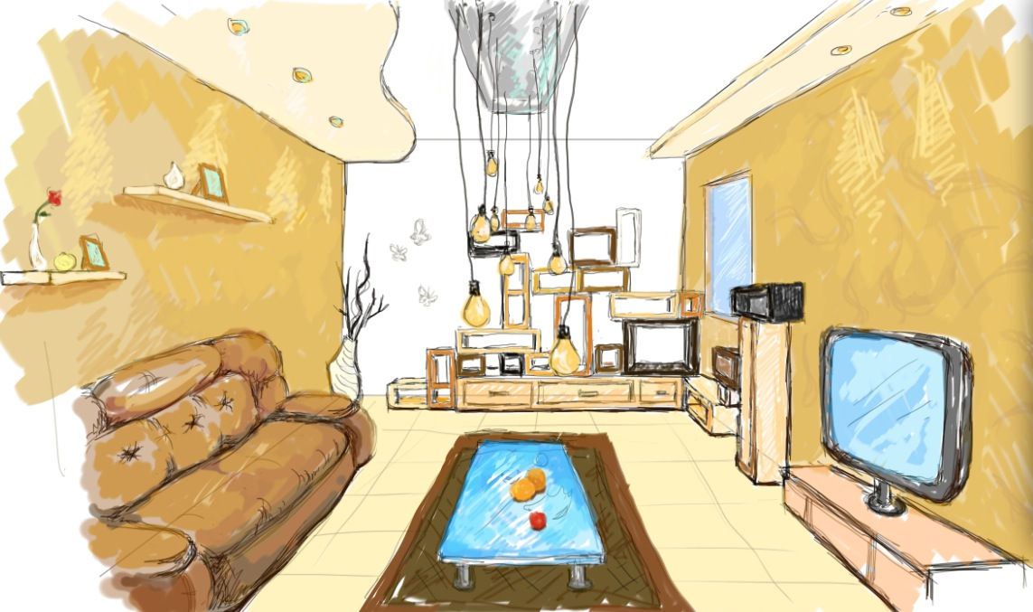 Interior Design Drawing Draft